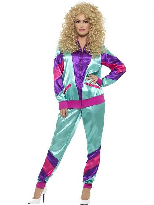 80s Height of Fashion Shell Suit Costume, Purple SKU 43130