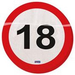 Plates 18 Traffic Sign 23cm /8 F 28118