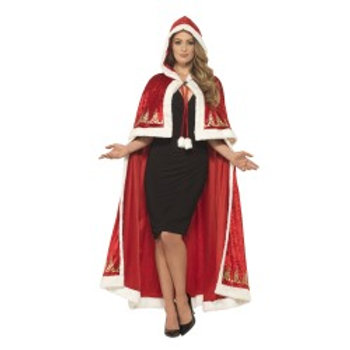 Deluxe Miss Claus Cape 45965 S