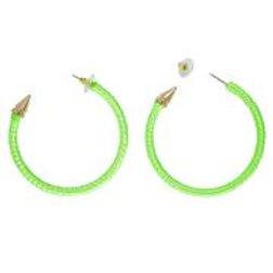 """Pair of """"NEON GREEN EARRINGS"""" 03532 W"""