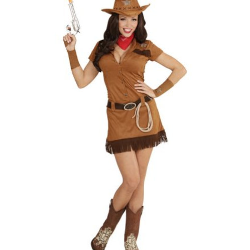 """COWGIRL"" (dress, belt, cuffs, bandana, hat, lasso) (05571)"