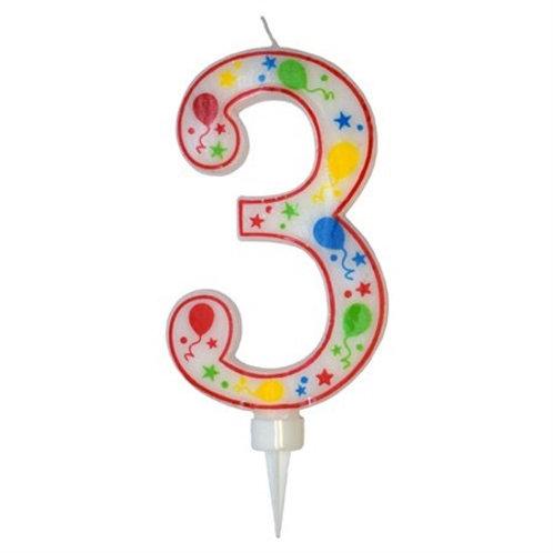 BIRTHDAY CANDLE NUMBER 3. 79865-3 JOKER