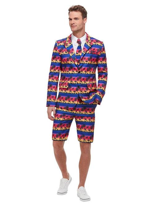 Sunset Flamingo Suit. Jacket, shorts, tie. 51037 Smiffys