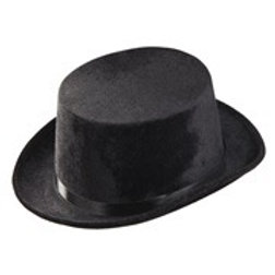 """BLACK TOP HAT"" velvet. 1434N W"