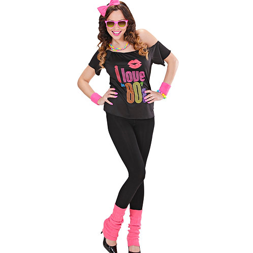"""80's GIRL"" (T-shirt, bow headband,leg warmers)"