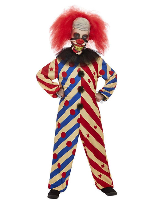 Boys Creepy Clown Costume. 64004 Smiffys