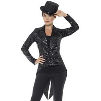 Sequin Tailcoat Jacket, Ladies 46959 S