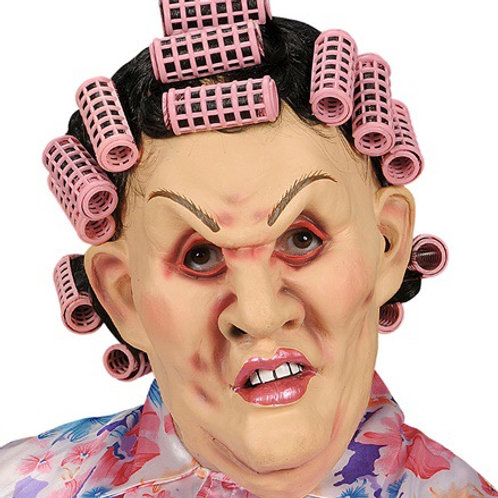 """MOTHER-IN-LAW MASK WITH WIG & CURLERS"""". 8326M Widmann"""