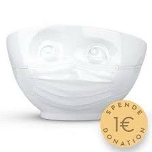 Tassenskål med munnbind 500ml