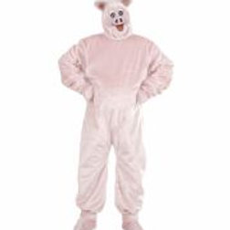 "Plush ""PIG"" (costume, gloves, shoecovers, ... 4484P W"