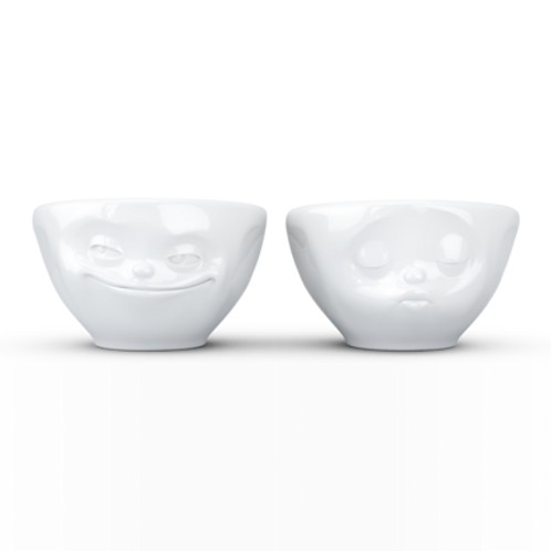 Small bowls Set No.1, grinning & kissing