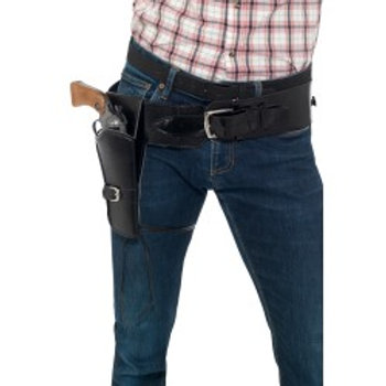 Adult Faux Leather Single Holster with Belt 40304 S