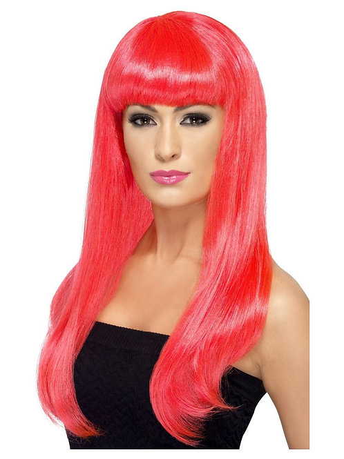 Babelicious Wig Neon Pink.42421 S