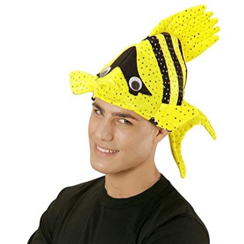 Yellow Tropical Fish Hat. 01091 W