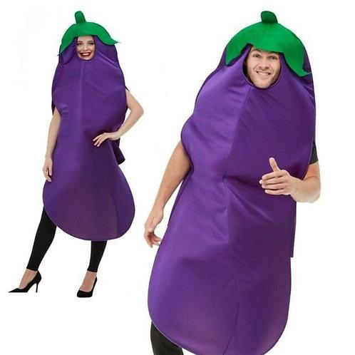 Aubergine Costume Hooded Tabard 50717 S