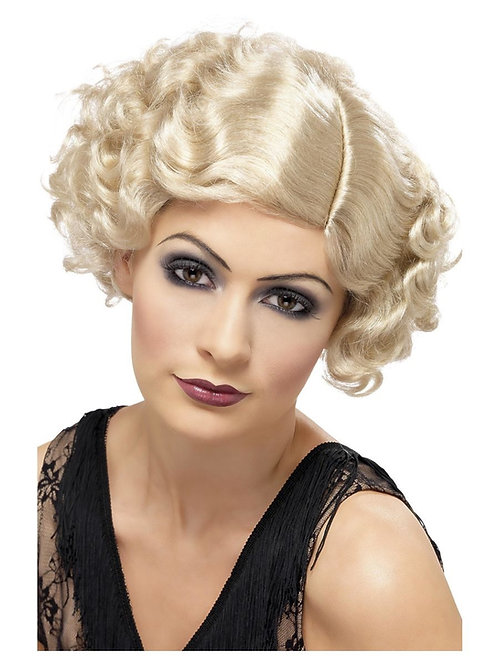 20s Flirty Flapper Wig, Blonde. 42003 S