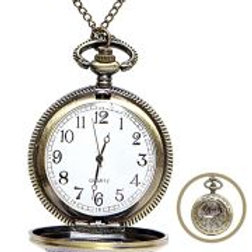 """""""ROSE POCKET WATCH WITH CHAIN"""" W 75704"""