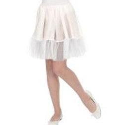 """""""WHITE PETTICOAT SKIRT"""" child size W 01109"""