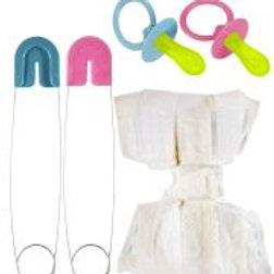 """BABY SET"" (diaper, pin, pacifier) W 8252B"