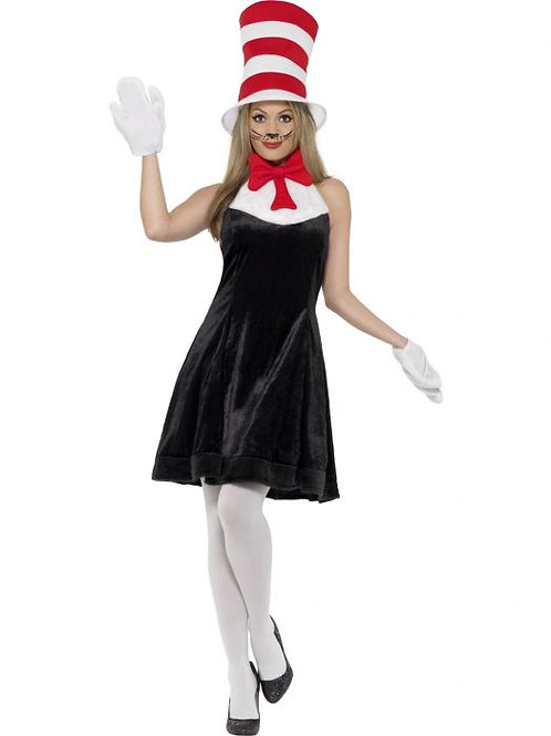 Cat in the Hat Costume, with Dress SKU 27539