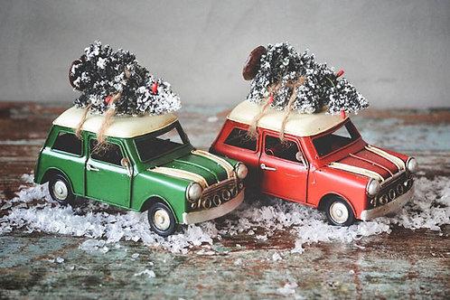 Morris mini m tre på taket 16x12 cm Rød Produktnr: J57802
