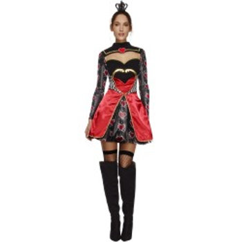 Fever Queen Of Hearts Costume, with Dress 43479 S