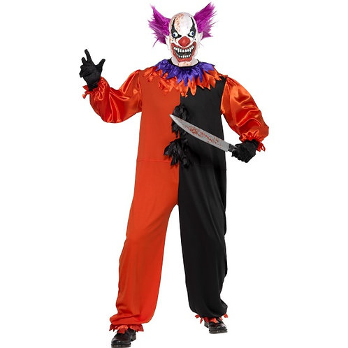 Cirque Sinister Scary Bo Bo The Clown Costume SKU: 33474