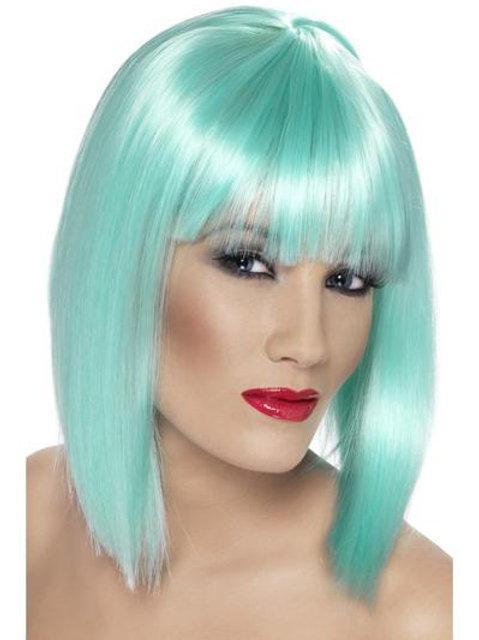 Glam Wig, Neon Aqua. 42137 Smiffys