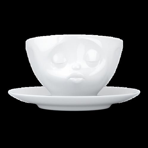 """Kaffekopp med fat """"Kissing"""""""