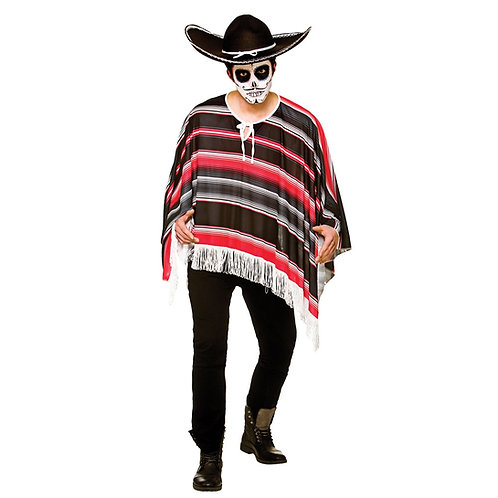 Day of the Dead Bandit Poncho HM-5542 W