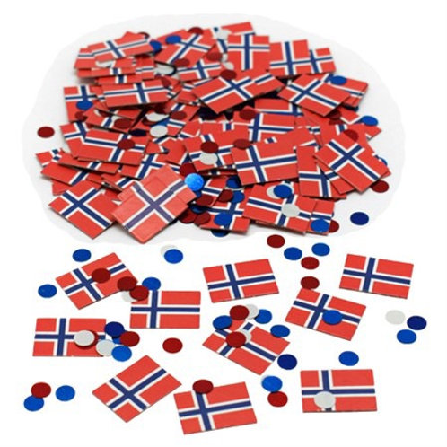 CONFETTI FLAGS NORWAY . 79617 JOKER