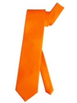 Orange Satin Necktie. 7924E. W