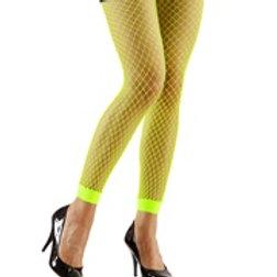 """NEON FISHNET LEGGINGS"" - green 20457 W"