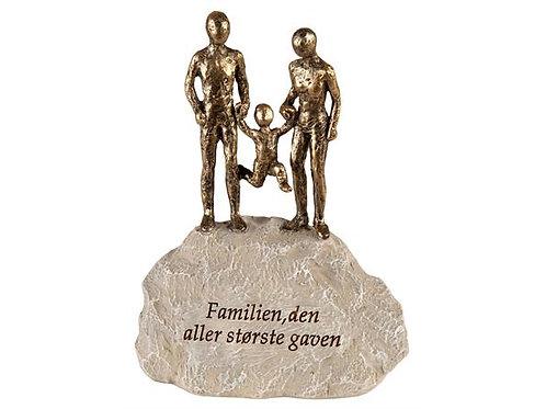 Figur grå stein Familien den... h:12,5cm