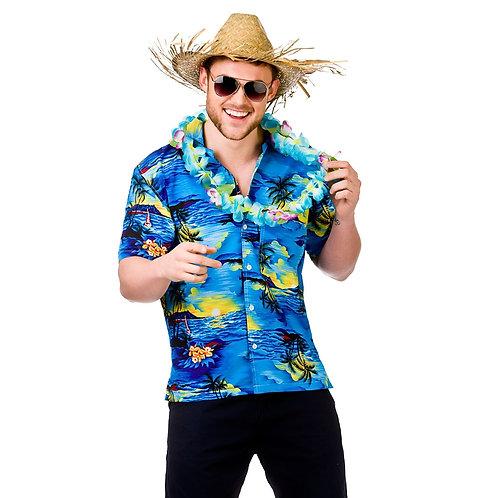 Hawaii Shirt - Blue Palm Trees EM-3204 W