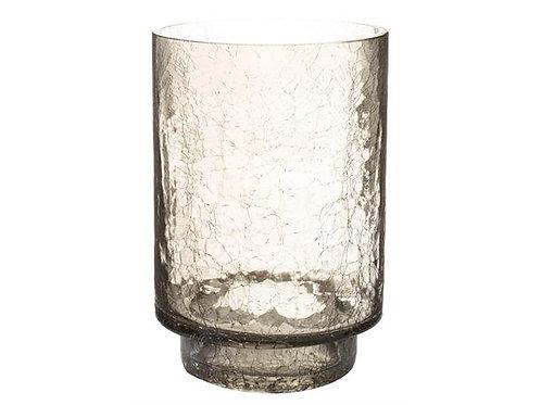 Lysglass blått krakkelert 13x19cm Varenr: 109169