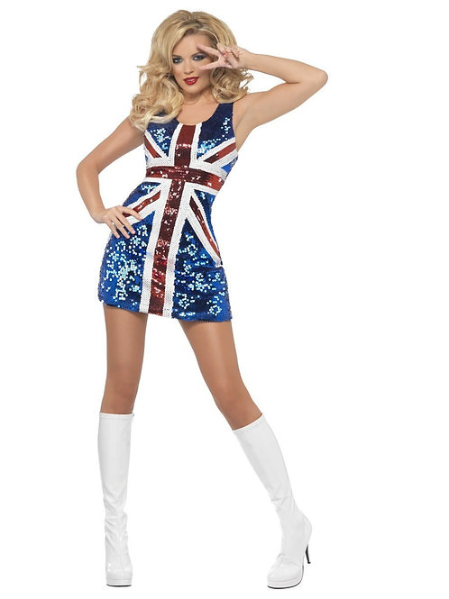 Fever All that Glitters Rule Britannia Costume. 25001 Smiffys