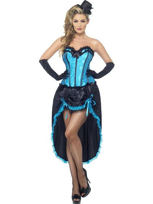 Burlesque Dancer Costume, Blue. 22188 Smiffys