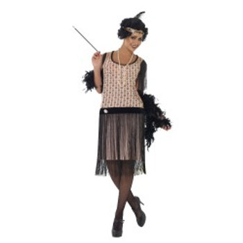 1920'S Coco Flapper Costume, Dress With Brooch, Cigarette .... 28820 S
