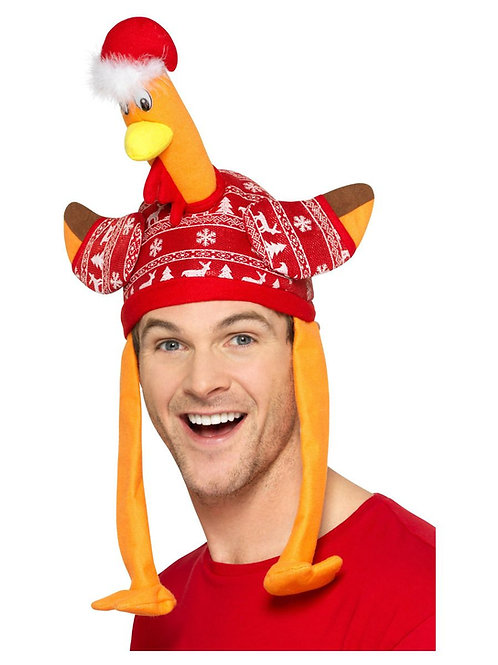 Turkey Hat, Red, with Christmas Jumper. 49134 S