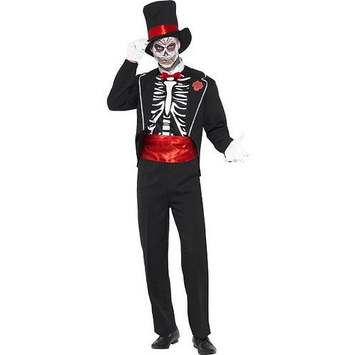 Day Of The Dead Costume, Black. 21565 S