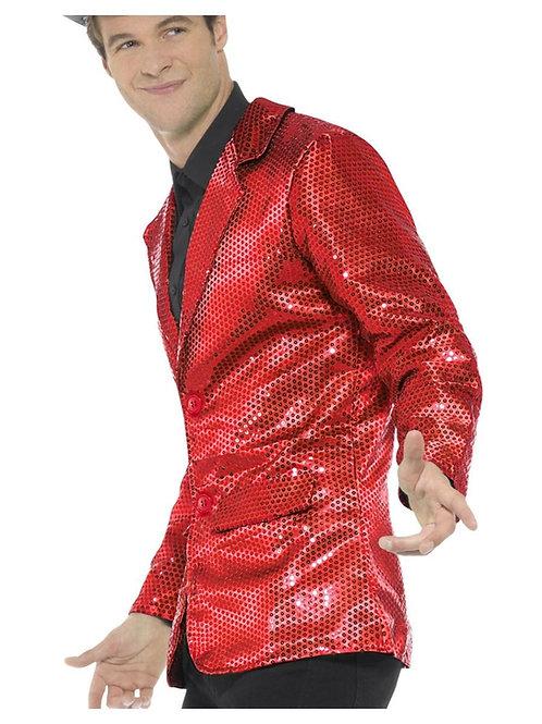 Sequin Jacket, Mens, Red. 46983 S