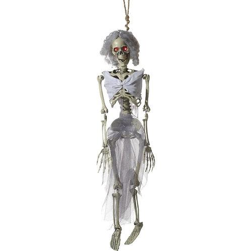 Animated Hanging Bride Skeleton Decoration SKU: 46899