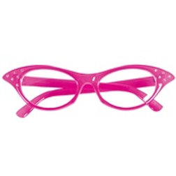 """PINK 50s GLASSES WITH STRASS"" 96673 W"