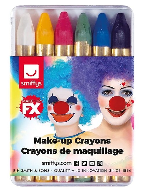 Make-Up FX, Carnival Face/Body Crayons. 29266 Smiffys
