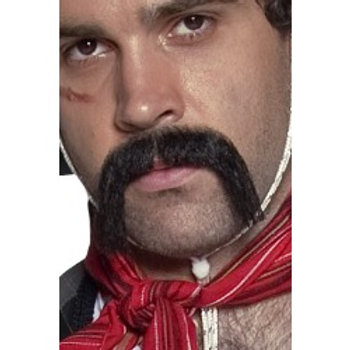 Authentic Western Mexican Handlebar Moustache, Black. 31130 S