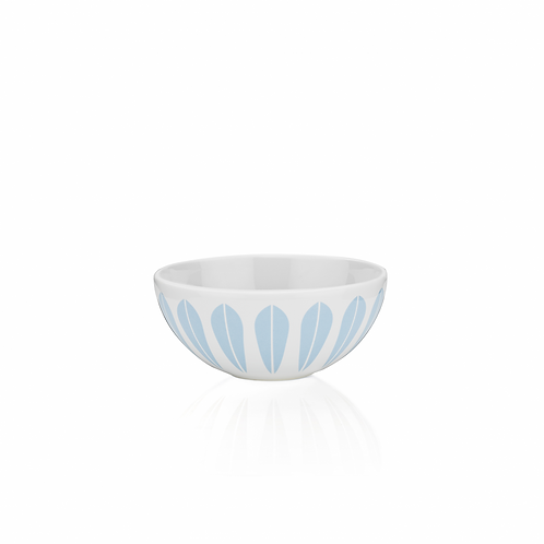 Lotus skål 12cm, hvit/lys blå