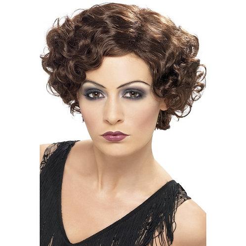 20'S Flirty Flapper Wig,Brown. 42004 S