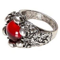 SKULLS RING WITH RED GEM. 46753 W