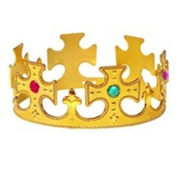 """""""GOLD KING CROWN WITH GEMS. 45501 W"""